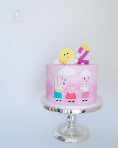 Peppa pig theme cake for little Aarya's 2nd.. The design was based on the picture provided by our lovely client Adi.. I love the pink…