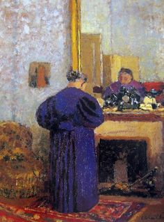 Before the Fireplace Mirror by Edouard Vuillard in the Hermitage, St Petersburg