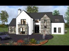 ICYMI: modern house designs ireland - House Plans, Home Plan Designs, Floor Plans and Blueprints Simple Bungalow House Designs, Bungalow Haus Design, Cool House Designs, Modern House Design, Bungalow Exterior, Dream House Exterior, House Exteriors, New House Plans, Dream House Plans
