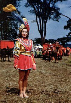 Ringling Brothers circus girl, 1945