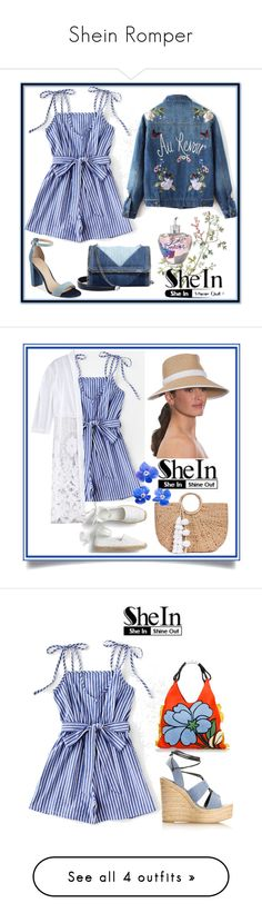 """""""Shein Romper"""" by karenxxander ❤ liked on Polyvore featuring GUESS, STELLA McCARTNEY, Lolita Lempicka, JADE TRIBE, Eric Javits, Marni, Yves Saint Laurent, Versace, Nine West and Kevyn Aucoin"""