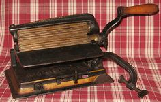 19th Century American Patented Fluting Machine Crimping Iron Philadelphia Original Paint | eBay