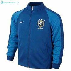 024346148d881 2016 Brazil National Team Blue Track Jacket