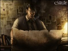 Mark Molnar - Sketchblog of Concept Art and Illustration Works: Call of Cthulhu Card Arts