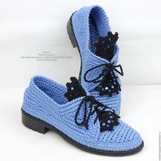 Туфли льняные вязаные - купить или заказать в интернет-магазине на Ярмарке Мастеров | Льняные туфли вязаные... Они такие женственные...