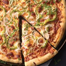 """Sourdough Pizza Crust – at last, something tasty to do with that """"discard"""" starter you end up with at feeding time."""