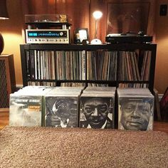 a really nice collection of Blues Albums and stereo set-up