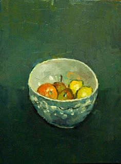 "Saatchi Art Artist Andre Pallat; Painting, ""Fruit in White Bowl"" #art"