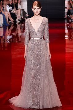 Elie Saab Fall 2013 Couture Fashion Show - Magdalena Langrova