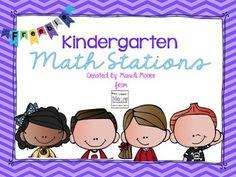 Beginning of the Year Kindergarten Math Stations {FREEBIE}