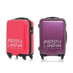 Michiko London MCJ-24700 in-flight Rolling Wheeled Travel Bag Carry-on Luggage