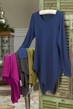 Luxurious Tunic - Tunic Top, Winter Tunic, Scoop Neckline Tunic, Cashmere Tunic | Soft Surroundings