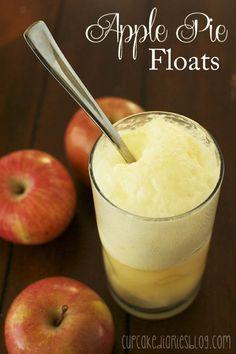 Apple Pie Floats | cupcakediariesblog.com