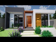 Modern Bungalow Exterior, Small House Exteriors, Modern Bungalow House, Modern Exterior House Designs, Glass House Design, House Front Design, Small House Design, Home Design Floor Plans, Home Building Design