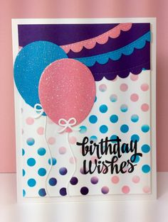 Balloon dies, medium dot stencil: SSS, #SSSFAVE,  by beesmom - Cards and Paper Crafts at Splitcoaststampers