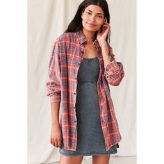 Vintage Assorted Washed Flannel Shirt ($39) ❤ liked on Polyvore featuring tops, urban shirts, flannel top, vintage tops, flannel shirts and vintage shirts