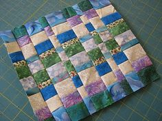 Love Laugh Quilt: Marvelous Mountain block made from leftover strips. This looks like a great way ro use up extra strips of varying widths.