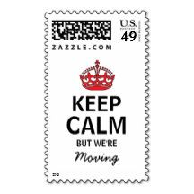 Keep Calm But We're Moving Postage