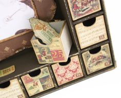 Decorated Drawers on the Kaisercraft Advent Calendar