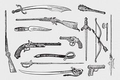 Check out Weapons Vector Pack by nosleepforsheep on Creative Market