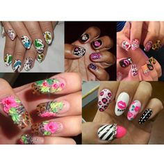 Love all the Betsey Johnson inspired mani's