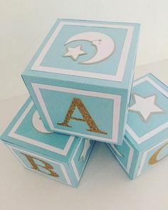 Stars and moon baby shower decorations