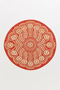 Embroidered Ellie Rug, Round