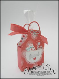 Stampin' Up! Apron of Love  with box for treats.  tutorial for box as well.
