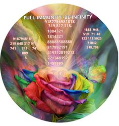"ABSOLUTE STANDARD HEALTH Energy Circle    This ec is a purely divine gift.  The  gg codes and switchphrase in a  POWERFUL HEALING ROSE  picture will keep you fit.  Write your name with date of birth and Keep under your Pillow.   Carry in your wallet.   Hang in front of your bed...       FULL-IMMUNITY -BE-INFINITY Auto-Body Healing 9187948181 The immune system 219 648 317 918 ""protection of the whole body...the sequence number is ""9187756981818    (Chant according to your intuition )…"