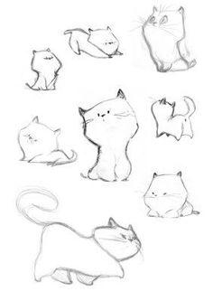 die Skizzen von Caroline Piochon – dessin … the sketches by Caroline Piochon – dessin Cool Drawings, Drawing Sketches, Cat Sketch, Cute Cat Drawing, Drawing Art, Cat Cartoon Drawing, Cat Drawing Tutorial, Kitty Drawing, Drawing Cartoons