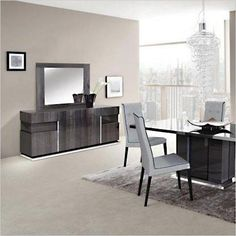 Riviera Buffet - modern high-gloss finish in grey - Scan Design Furniture | Modern and Contemporary | Florida