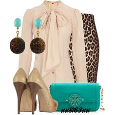 Teal Leopard by xx8763xx on Polyvore
