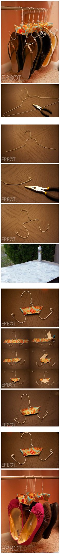 DIY shoes hangers