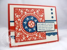 great use of the medallion stamp! stampin up