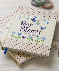 Love this 'Our Story for My Son' Memory Book by from you to me on #zulily! #zulilyfinds