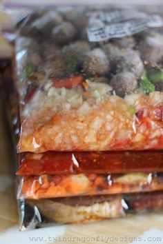 Crockpot Freezer Meals - good idea to bring for new moms/recovering