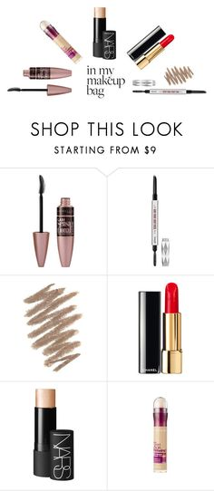 """""""in my make up bag"""" by imnotwhatyouwant on Polyvore featuring bellezza, Benefit, Bobbi Brown Cosmetics, Chanel, NARS Cosmetics e Maybelline"""