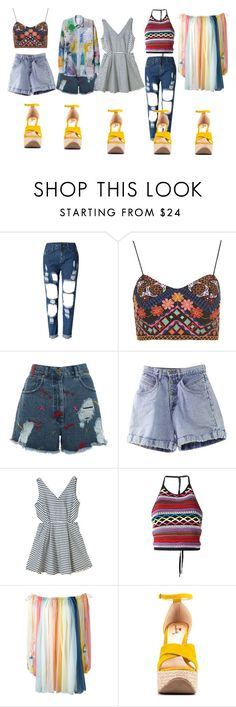 """""""Matter pt2"""" by aurorazoejadefleurbiancasarah ❤ liked on Polyvore featuring WithChic, Topshop, House of Holland, Dsquared2, Chloé and Luichiny"""