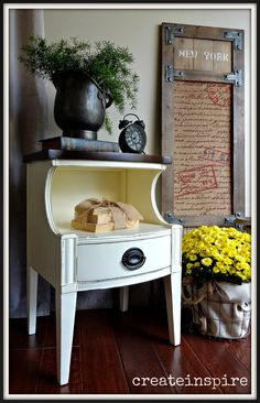 createinspire: Drexel side table in Creme (SW)
