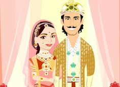 Indian Wedding Invitation Vector Card 2 Week by CharactersOnly, $199.99