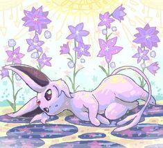 Pokemon Alola, Pokemon Fan Art, Cute Pokemon, Pikachu, Umbreon And Espeon, Pokemon Eeveelutions, Eevee Evolutions, Cool Pokemon Pictures, Pokemon Painting