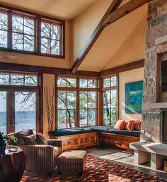 Lake Michigan retreat blends modern and rustic details