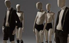 Maniquies de mujer y hombre abstractos Fabric