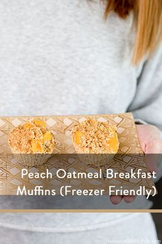 sharing a peach oatmeal breakfast muffins recipe that are delicious and also freezer friendly and easy to make in under 30 minutes Oatmeal Breakfast Muffins, Peach Oatmeal, Peach Muffins, Peach Slices, Coffee Blog, Muffin Recipes, Food For Thought, Freezer, Parenting