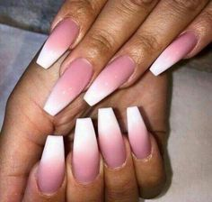 Ombre nails are everywhere these days. Ombre nails are eye-catching and personalized, and can be subtle as you want. I like a soft pastel ombre fade that is suitable for everyday use or glitter ombre nails for special occasions such as weddings. Nails Yellow, Pink Ombre Nails, Coral Nails, Coffin Nails Ombre, Matte Pink, Pink Coffin, Glitter Nails, Gorgeous Nails, Love Nails