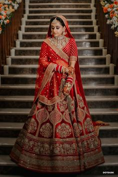 Sabyasachi Lehenga Bridal, Indian Bridal Lehenga, Manish Malhotra Lehenga, Indian Bridal Outfits, Indian Bridal Fashion, Indian Fashion Dresses, Anarkali, Indian Bride Dresses, Bridal Lehnga Red