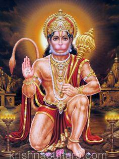 Hanuman Blessing Canvas Art