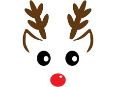 Mickey Christmas, Christmas Vinyl, Etsy Christmas, Christmas Clipart, Diy Christmas Ornaments, Paper Christmas Decorations, Christmas Paper Crafts, Christmas Gift Bags, Reindeer Face