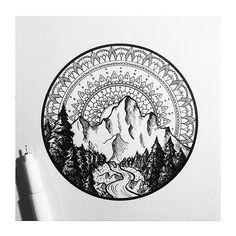Montanha + rio lindos