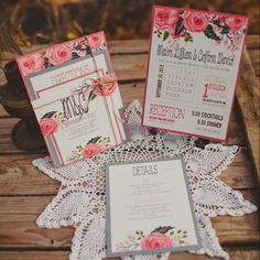 Rustic Lace Wedding Invitation Samples